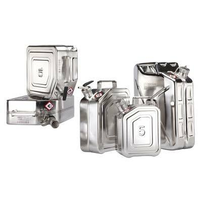 Safety jerrycans stainless steel